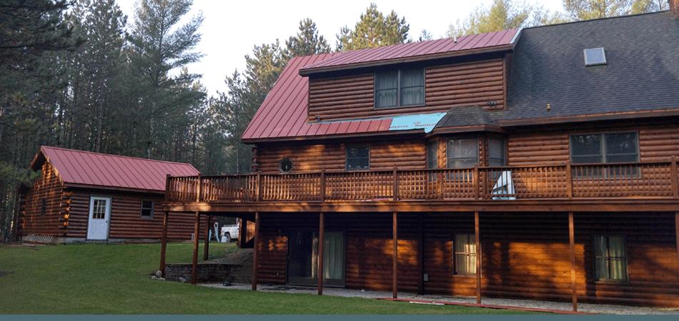 Log roofing