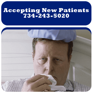 Sinuses - Monroe, MI - Monroe Ear, Nose and Throat Associates - Sick Man - Accepting New Patients 734-243-5020