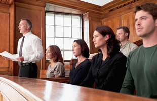 People in the court