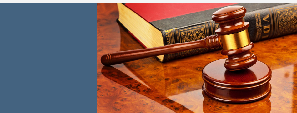 The gavel of the judge in court
