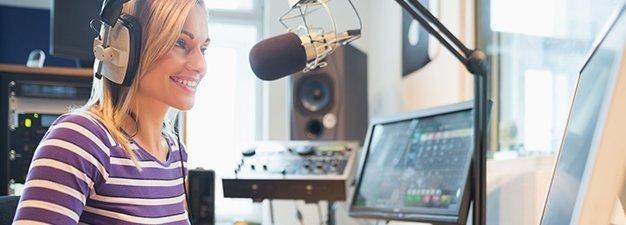 Radio DJ woman