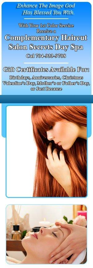 Haircuts - Kannapolis, NC  - Salon Secrets Day Spa