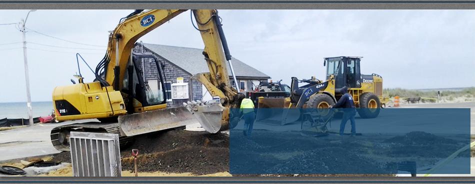 Unloading of gravel