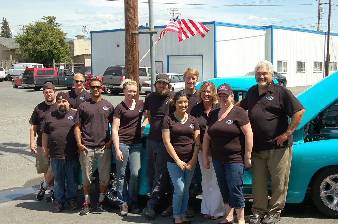 Dally's Auto Body shop workers