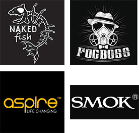 Naked fish, Fogboss, Aspire, Smok