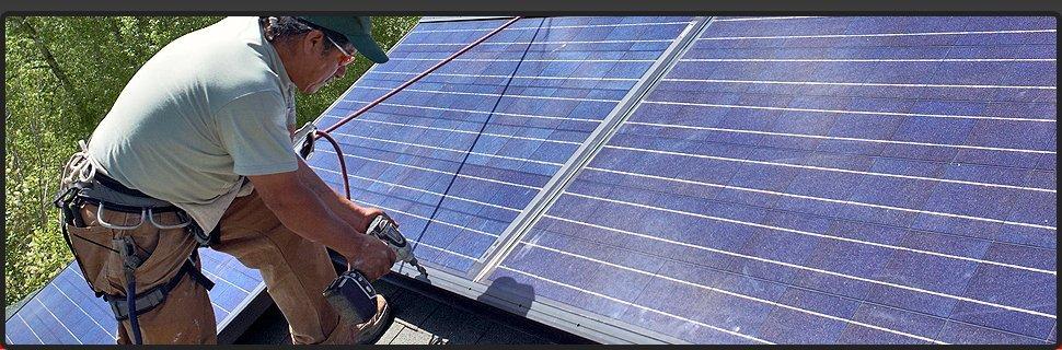 Solar panel battery