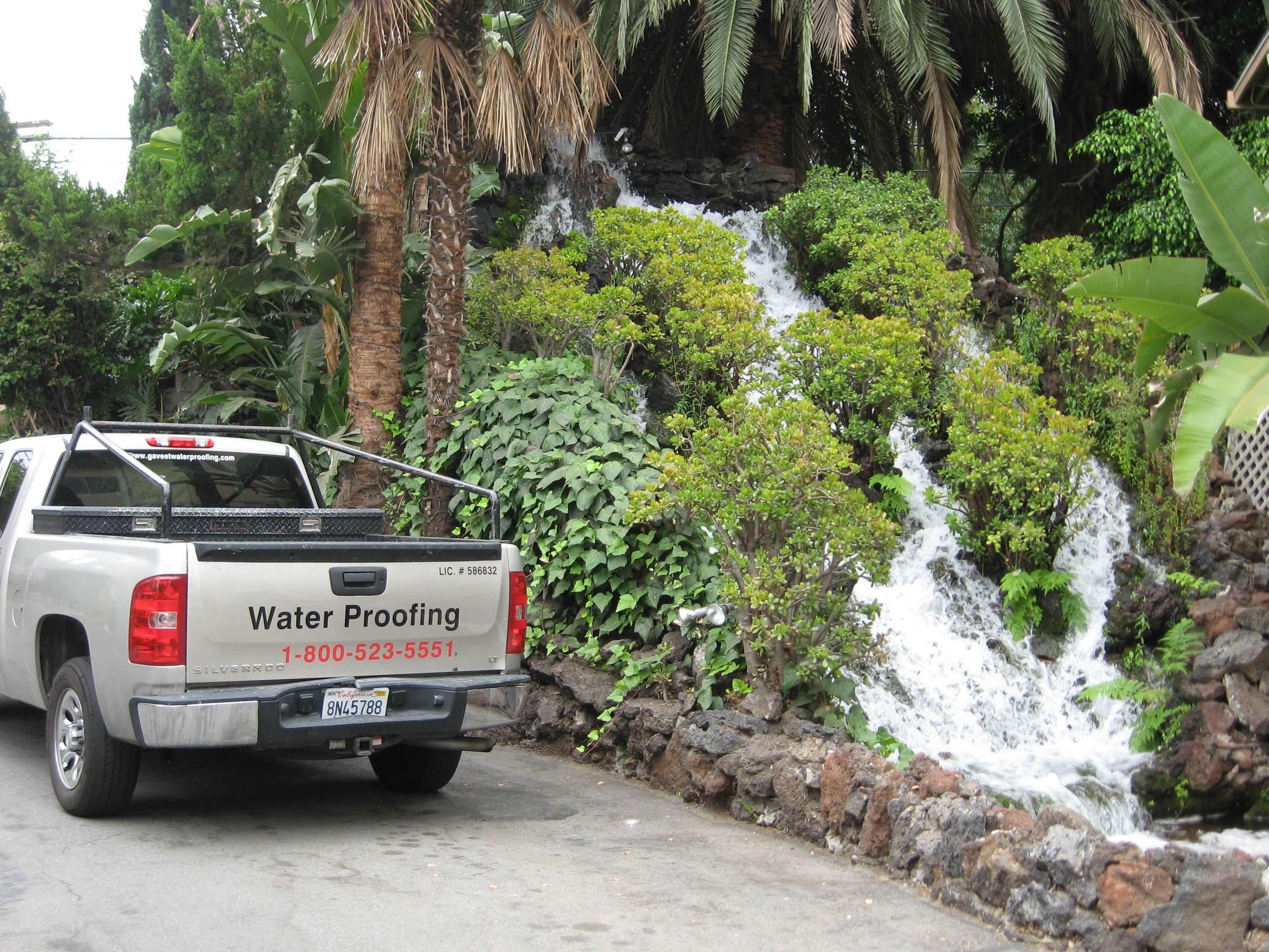 Waterproofing pickup truck