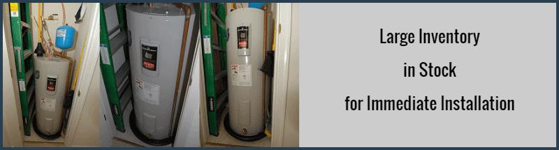 3 Bradford White water heaters