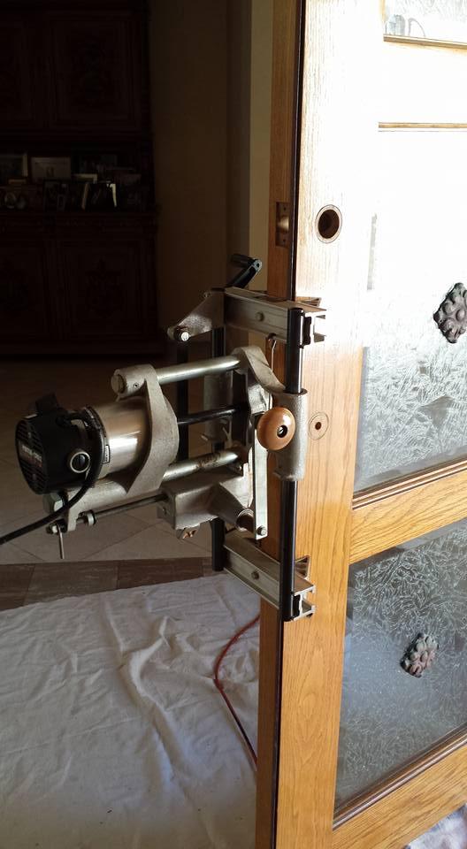 Mortise lock installation.