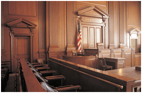 Courtroom for hearings