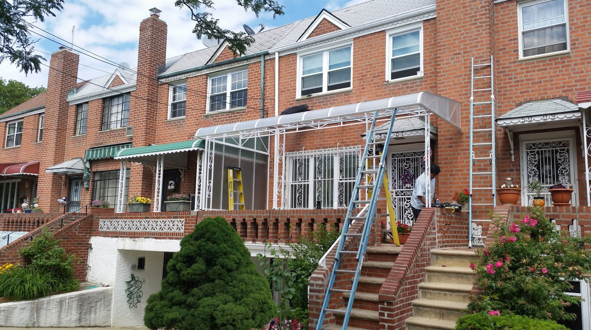 Custom Lexan Fiberglass Awning We Fabricated And Install In New Jersey NYC