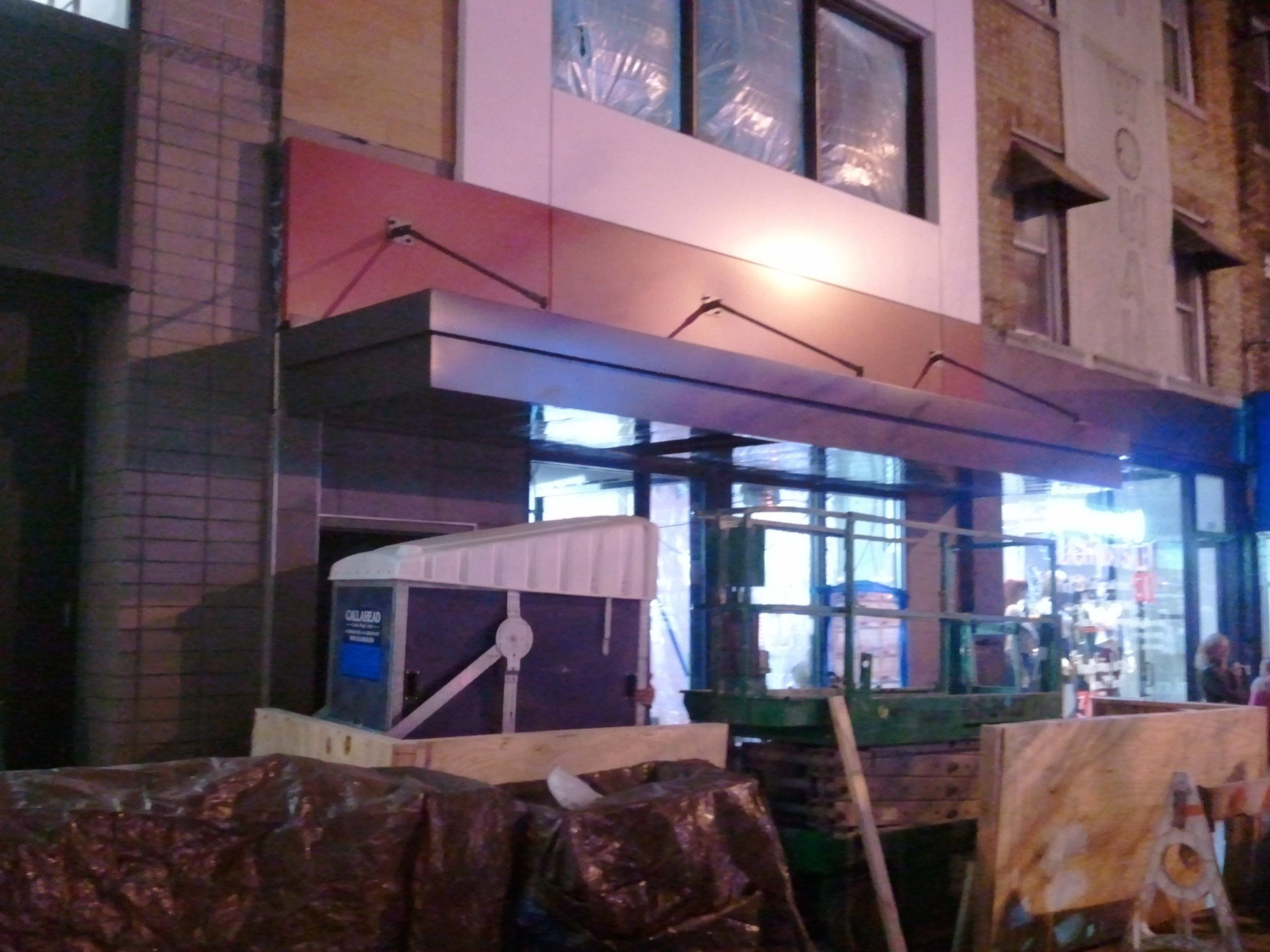 Aluminum Canopy for Commercial Project & Custom aluminum awning canopy installed for Wendyu0027s in Brooklyn ...
