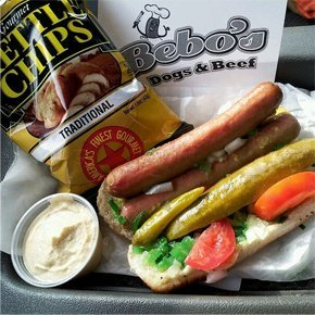 La Crosse, WI  - Bebo's Dogs & Beef - Menu