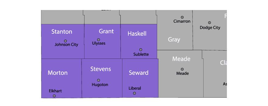 LARC DVS Service Area Map