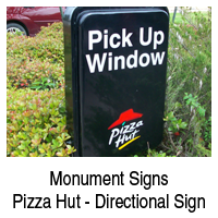 Monument Sign Pizza Hut    Beaumont, TX   D & S Signs   409-842-1546