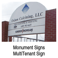 Multi-tenant Sign   Beaumont, TX   D & S Signs   409-842-1546