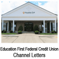 Education First Federal Credit Union | Beaumont, TX | D & S Signs | 409-842-1546