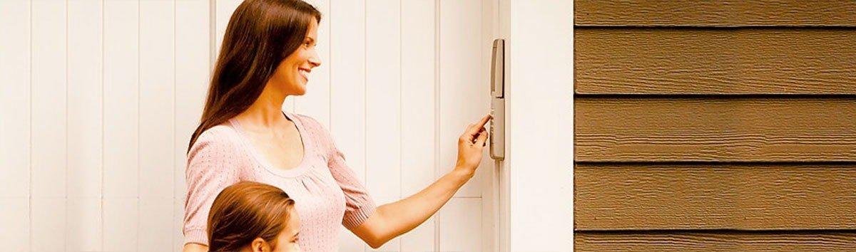Homeowner using Keyless Entry System