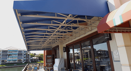 Commercial awning services