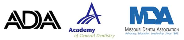 ADA, Academy of General Dentistry, MDA