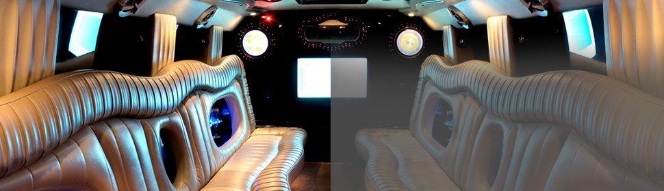 Inside the luxury car