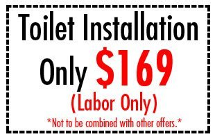 Toilet installation $169
