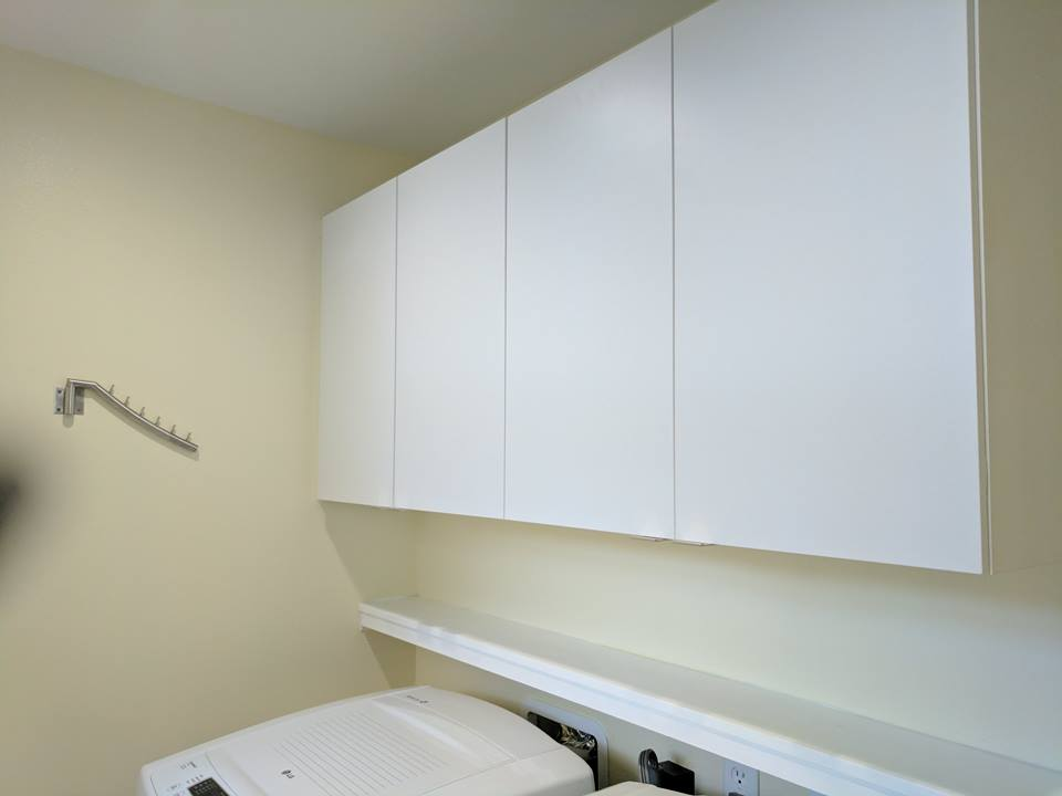 White Laundry Room for your Storage needs