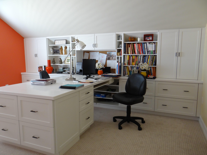 Clean custom work space furniture