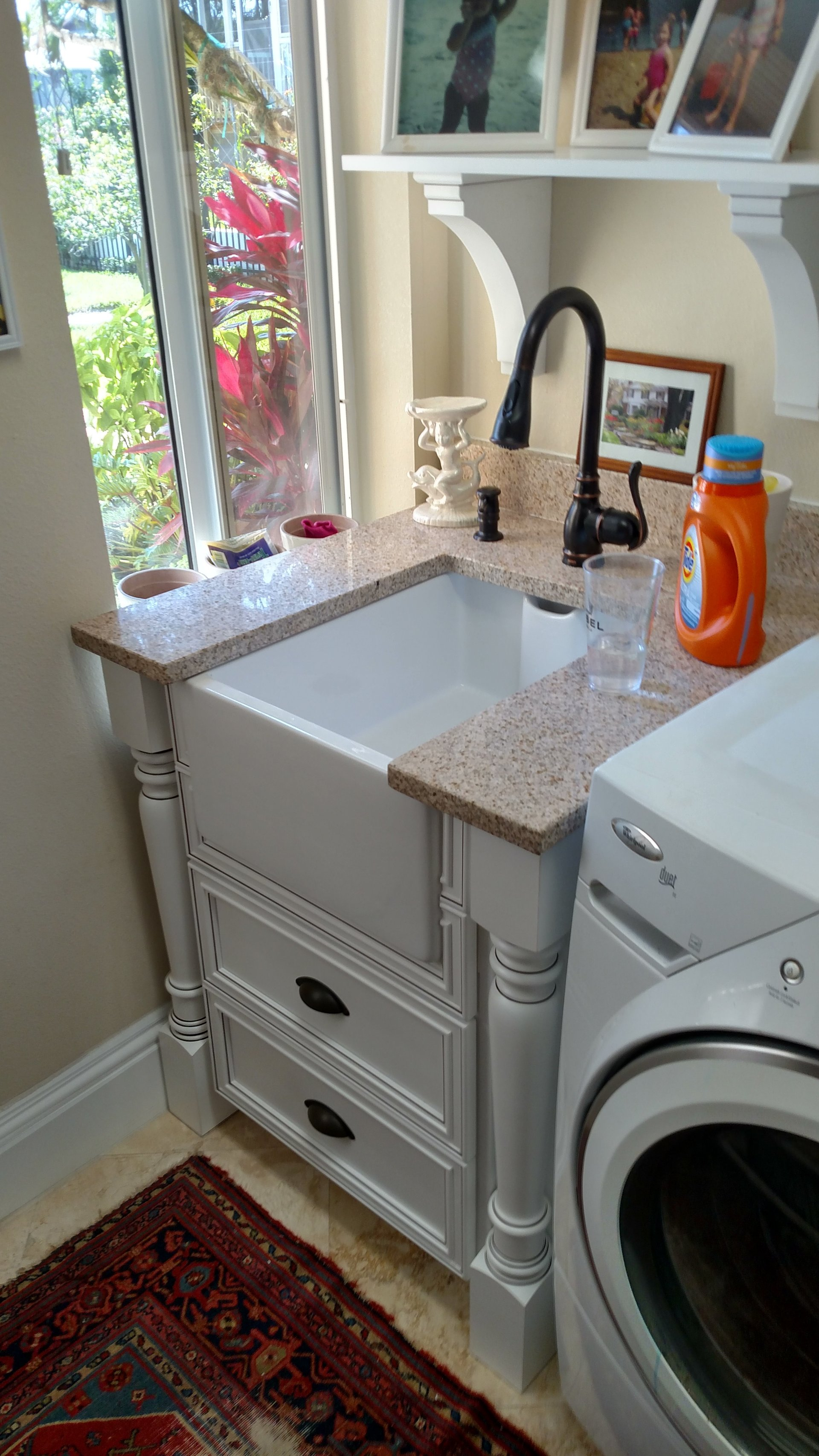 Modern and gorgeous Farm Sink in laundry