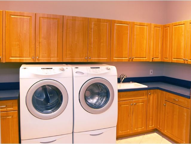 Cherry Wood Laundry Room