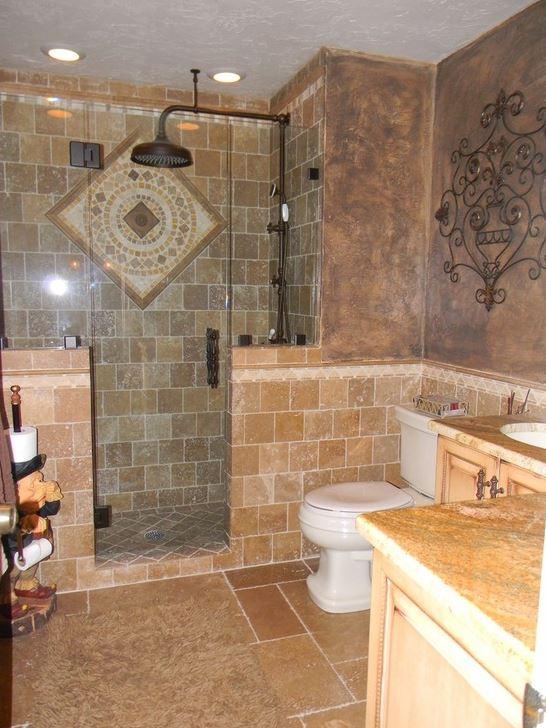 Tuscan Style bathroom layout