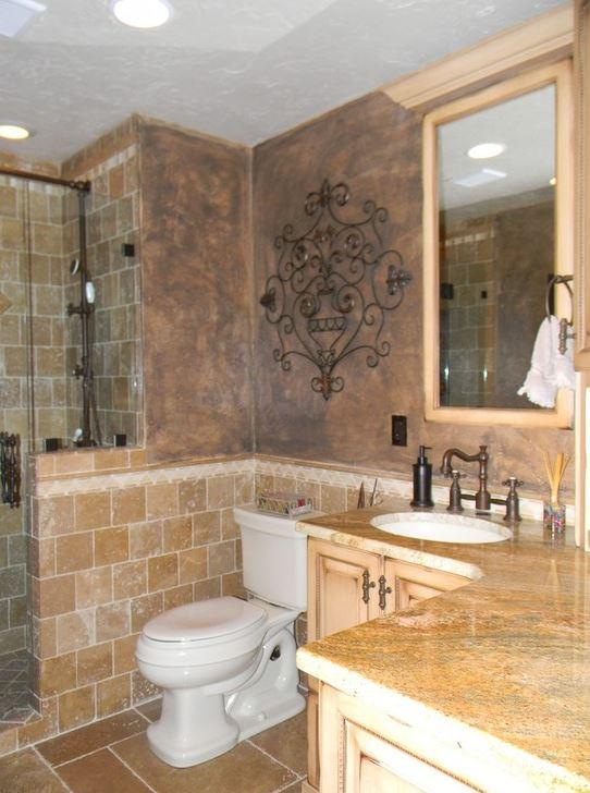 Tuscan style bathroon