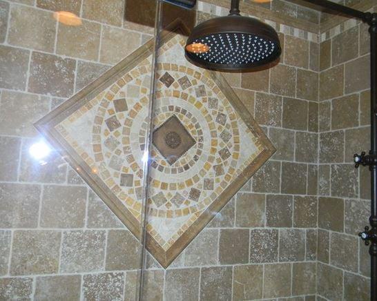 Mosaic in bathroom