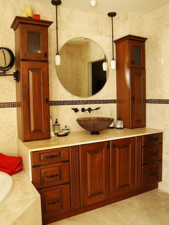 Spa bathroom and with efficient storage
