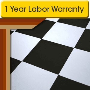 Vinyl Flooring - Rockville, MD  - Sun's Carpet & Floors - Black And White Vinyl Flooring - 1 Year Labor Warranty