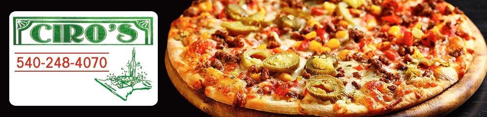 Pizzeria - Verona, VA - Ciro's Pizza