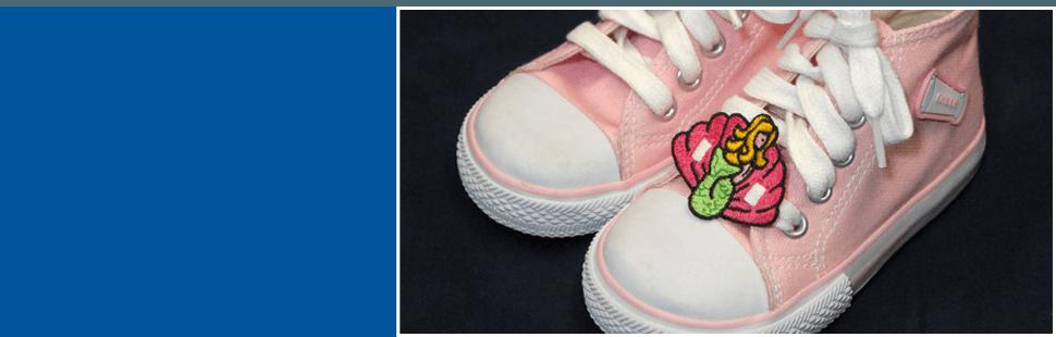 Custom shoe patch