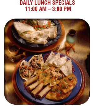 Lunch Specials - Nacogdoches, TX - La Carreta Mexican Café - Food - Daily Lunch Specials 11:00 am – 3:00 pm