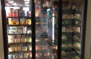 Goods on freezer