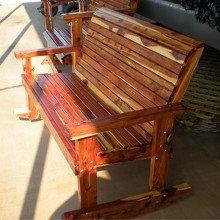 Locally made cedar furniture