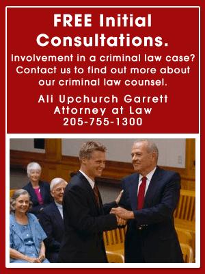 Criminal Law - Clanton, AL   - Ali Upchurch Garrett