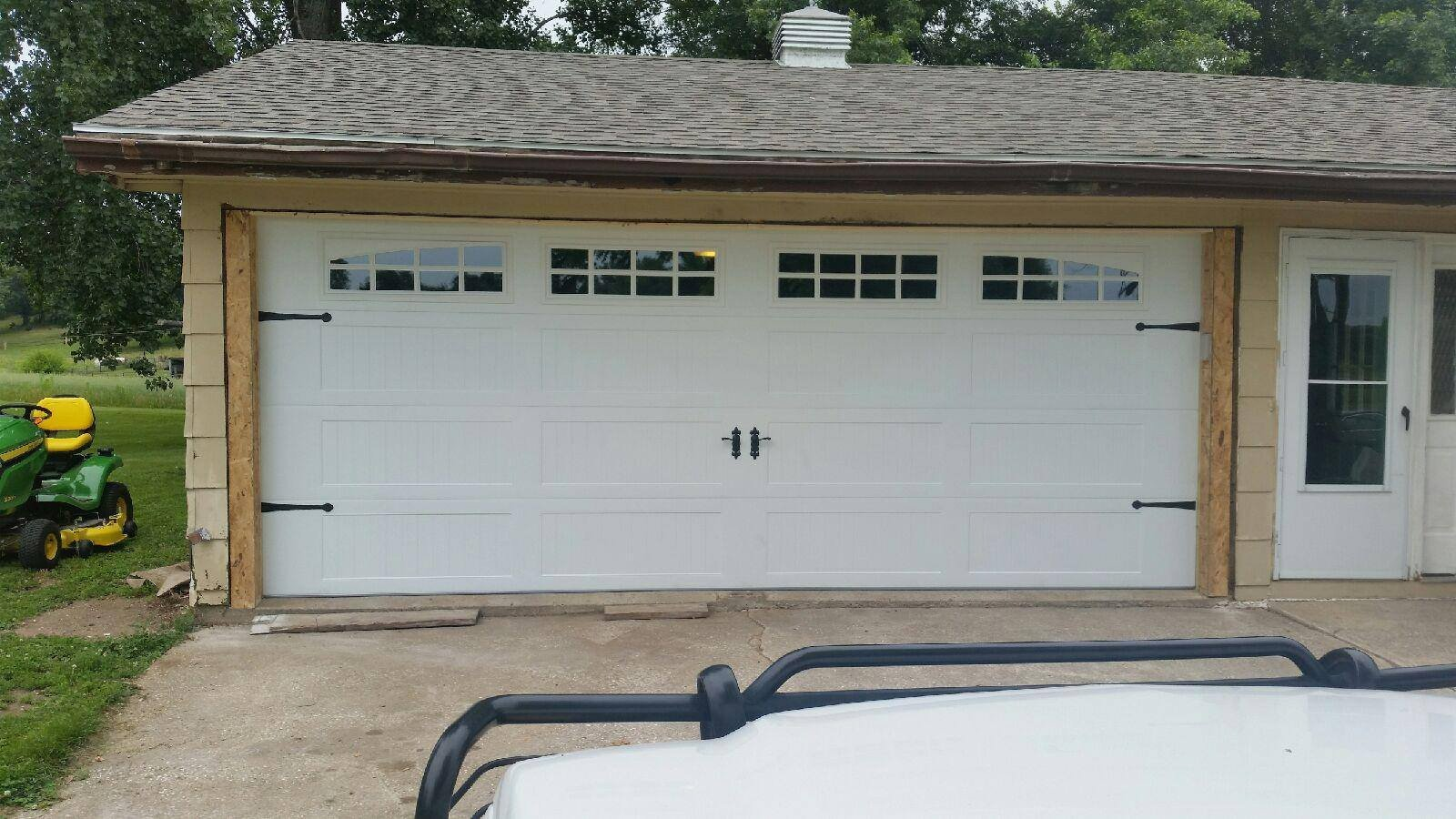 Residential garage door