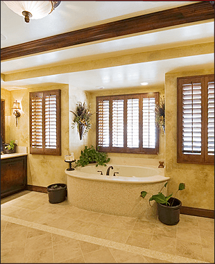 Luxurious tiled bathroom