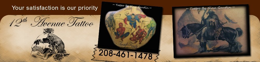 Tattoo Shop - Nampa, ID - 12th Avenue Tattoo