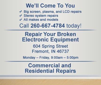 TV Repair - Fremont, IN - Tony's TV Repair