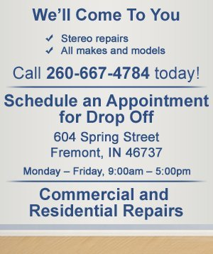 Stereo Repairs Fremont, IN - Tony's TV Repair