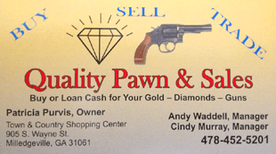 Quality Pawn & Sales - Buy, Sell, Trade, Pawn Guns and Jewelry - Milledgeville, GA