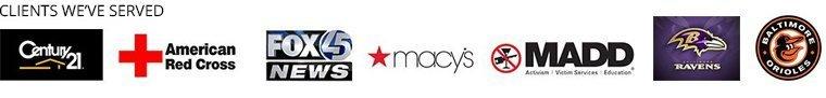 Century21 | American Red Cross | FoxNews | Macy's | Madd | Ravens | Baltimore Orioles