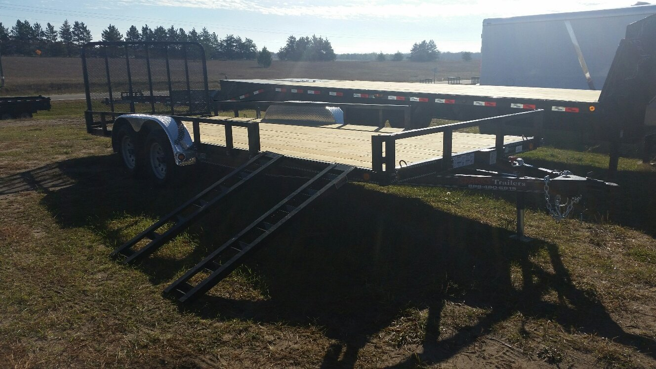 Flatbed Trailers Utility Trailer Battle Lake Mn Double Car 24 Foot Gooseneck Sparks