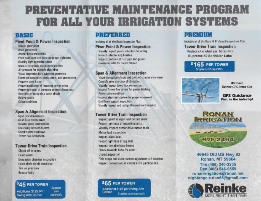 Irrigation Products Reinke Ronan Mt Wiring Pump Relay Service Agreement